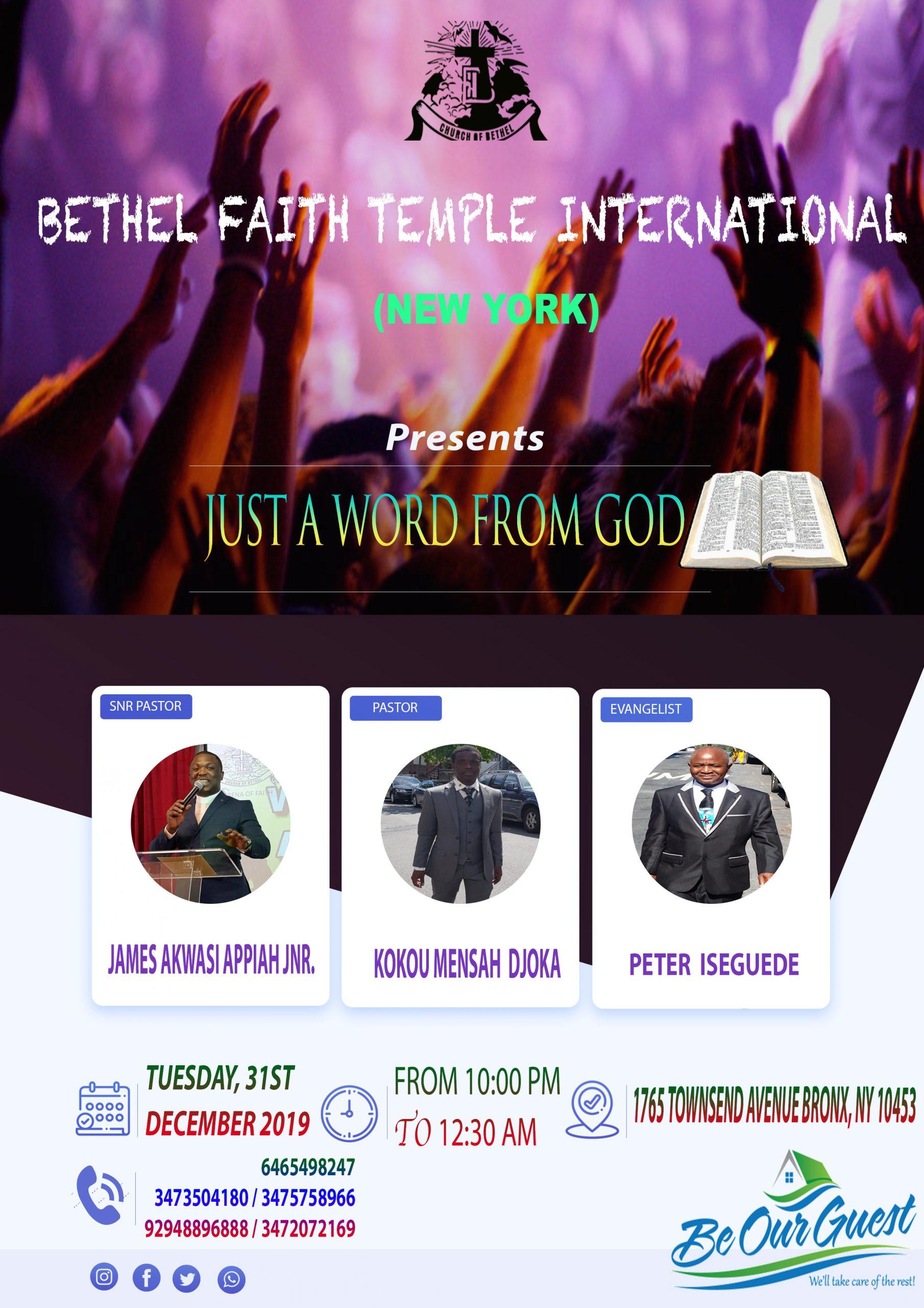 BETHEL FAITH TEMPLE INTERNATIONAL (NEW-YORK)